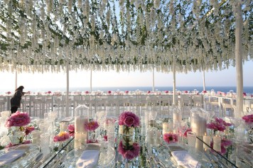 Sea side wedding in Capri - designed by Diana Sorensen